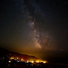 Milky Way shot from the Oregon coast with Rokinon 12mm