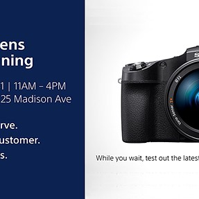 Free Sony Camera & Lens Cleanings this month at Sony Square NYC!