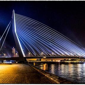 Night and sunrise in Rotterdam