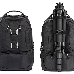 Centered tripod mounting backpack