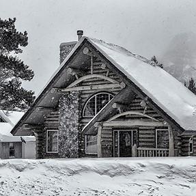 Snowbound in Waterton.