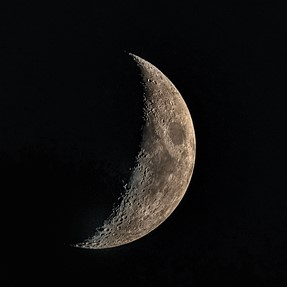 First quarter of the moon, lots of craters