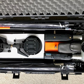 Showing my lighting flight case, based on a gun case