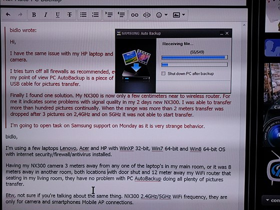 Auto PC Backup: Samsung Talk Forum: Digital Photography Review