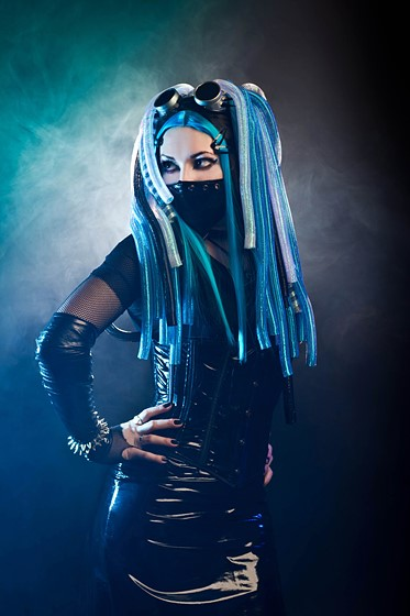 Portrait Of A  U0026quot Cyber Goth Queen U0026quot   Portrait And People