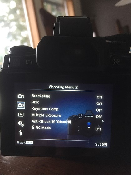 OM-D E-M1 Time lapse does not appear in advance menu options: Micro