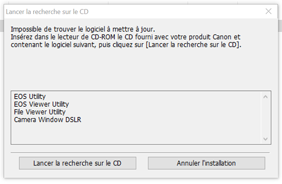 Can't find a way to update the 100D (SL1) without CD player