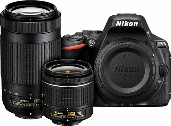 I'm surprised at Nikon, D5600 2 lens pkg  70-300 no VR