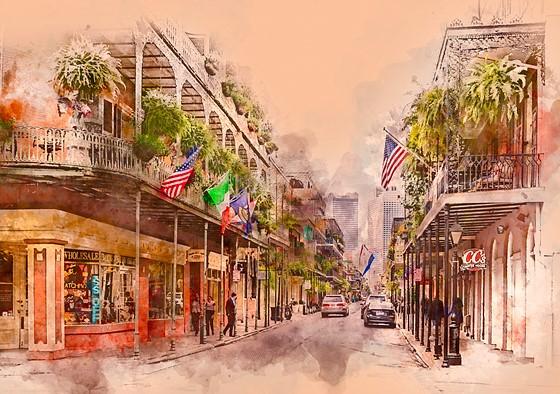Sony Full Frame Lenses >> The French Quarter, New Orleans - in watercolor: Sony Alpha Full Frame E-mount Talk Forum ...