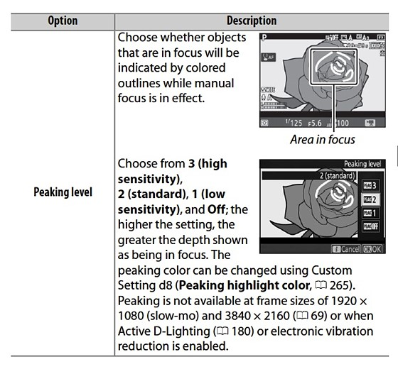 D850: Electronic VR & other functions greyed-out: Nikon FX