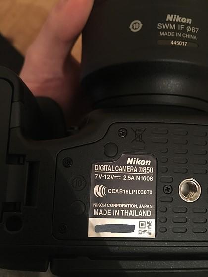 D850 - does this serial sticker look legit?: Nikon FX SLR