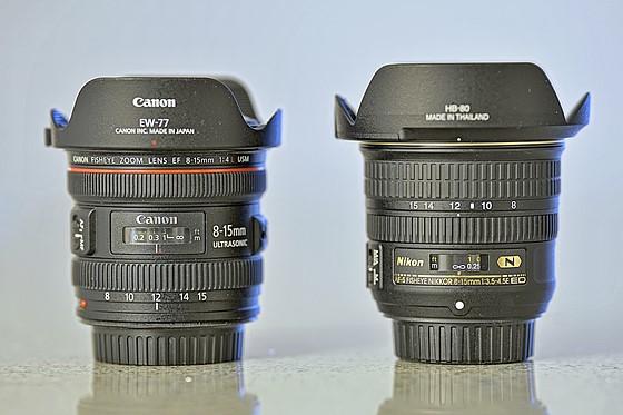 Canon 8-15 mm f/4L USM versus AF-S Nikkor 8-15 mm f/3,5-4,5E