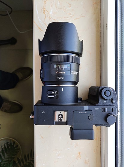 Sigma SDQH is changed to canon EF and can auto focus: Sigma Camera