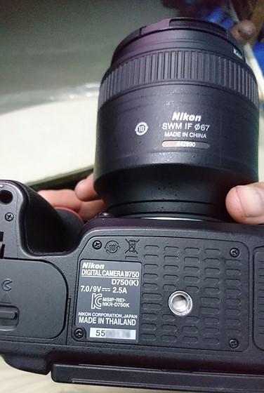 Asking about serial label on DIGITAL CAMERA D750 - D750(K) ?: Nikon