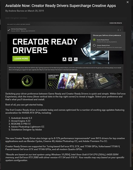 Nvidia drivers: PC Talk Forum: Digital Photography Review