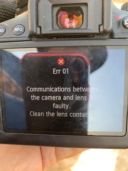 Error message  Lens or body?: Canon Rebel (EOS 200D-800D