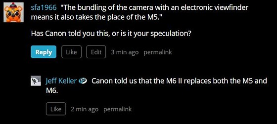 M6ii replaces both M6 and M5: Canon EOS M Talk Forum