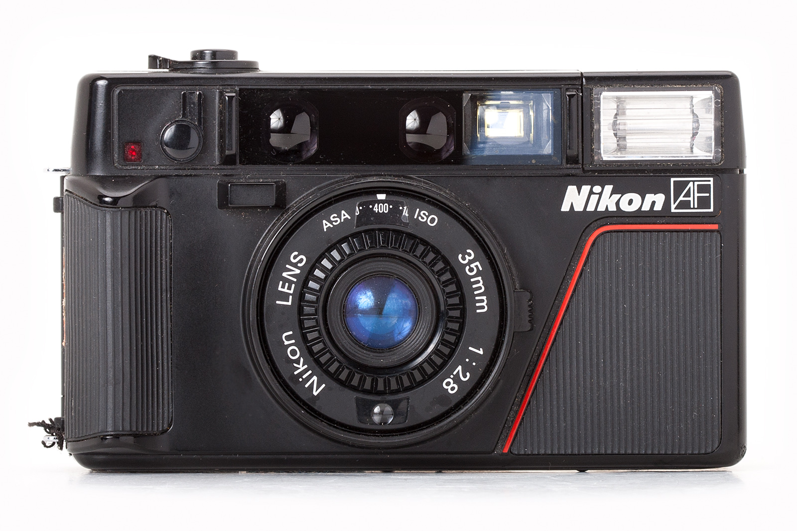 """film camera This camera, in its heyday, was known as the """"poor man's leica,"""" and with darned good reason the fixed 40mm f/17 lens is sharp as all heck, producing images that, with the right film."""