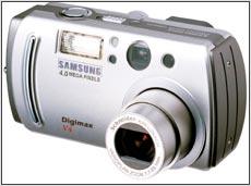 Samsung Digimax V4 4.0 MP Digital Camera Gray