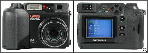 Olympus C-3030Z front & back (click for larger image)