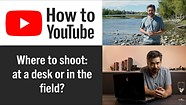 How to shoot a YouTube show – Should you shoot in studio or in the field?