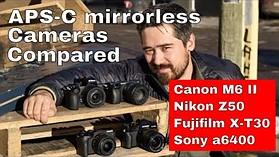 DPReview TV: Mid-Range APS-C Mirrorless Shootout (Canon M6 Mk II, Sony a6400, Nikon Z50, Fuji X-T30)